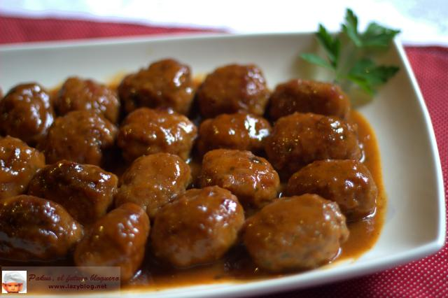Alb ndigas caseras con salsa barbacoa y miel paperblog - Guarnicion para albondigas ...