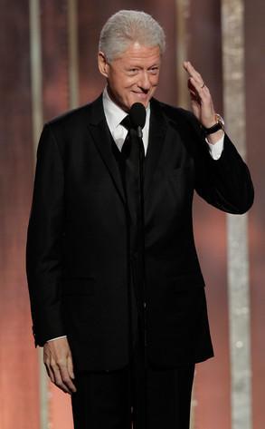 Bill Clinton sorprendió en los Globos de Oro