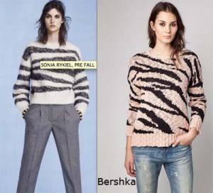 ss13 clones jersey sonia rykiel bershka 300x272 El ataque de los clones: Bershka attacks