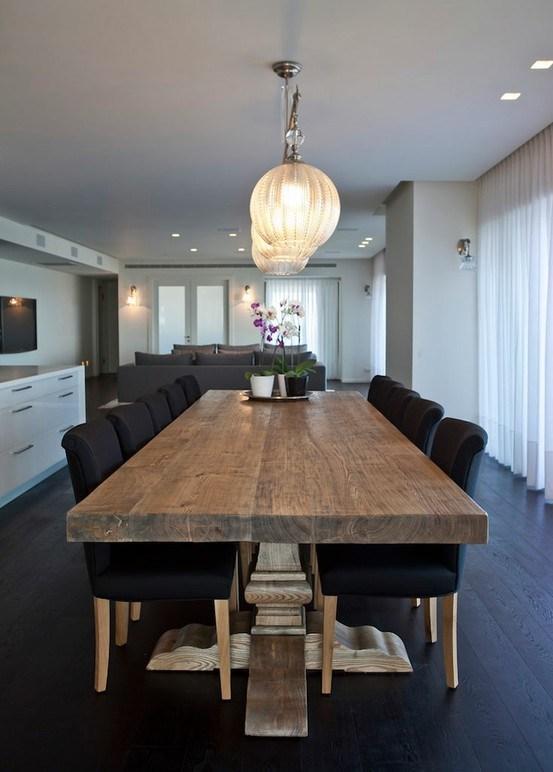 Mesas de comedor en madera paperblog - Fotos de mesas de comedor de madera ...
