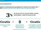 Cuenta Expansión Sabadell 2013 comisiones nómina