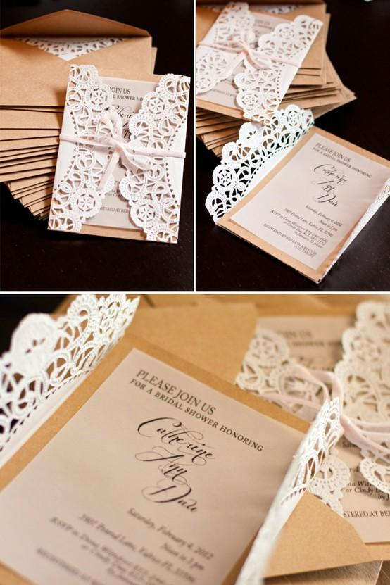 Doily Wrapped Wedding Invitations is perfect invitation template