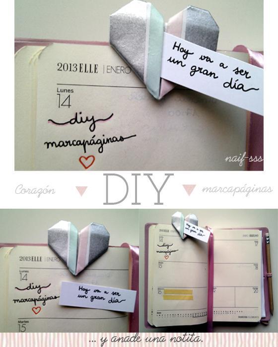 DIY - Marcapáginas corazón