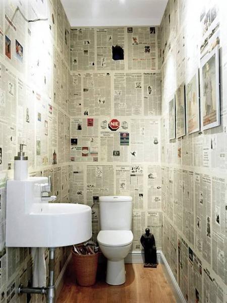 Renovar un cuarto de ba o con peri dico paperblog - Renovar un bano ...