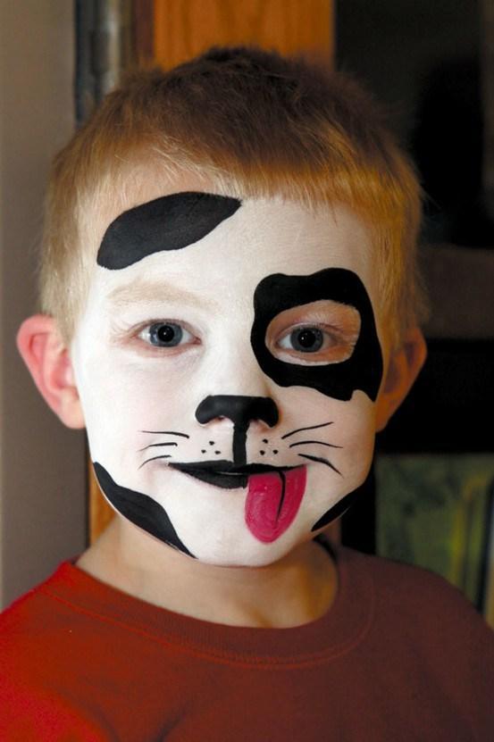 Maquillaje infantil para carnaval paperblog for Cara pintada diablo