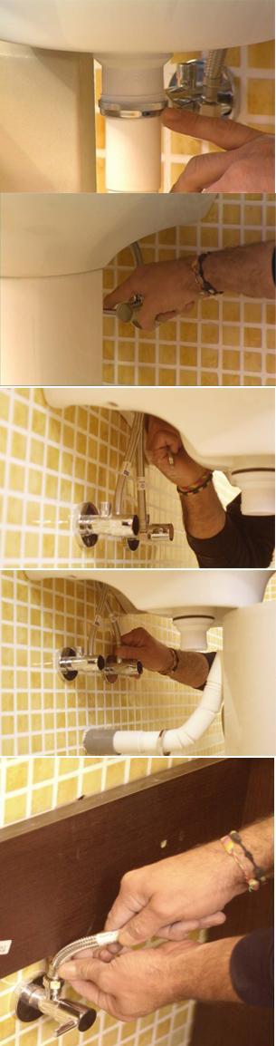 C mo montar un mueble para el lavabo paperblog - Como cambiar un lavabo ...