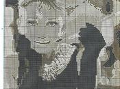 Esquemas punto cruz Audrey Hepburn