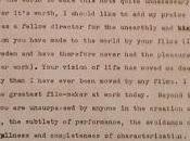 Texto Stanley Kubrick favor Ingmar Bergman