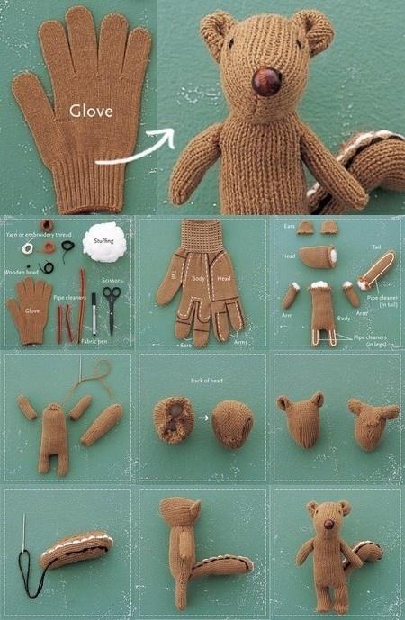 C mo hacer mu ecos con calcetines y guantes paperblog - Hacer munecos con calcetines ...
