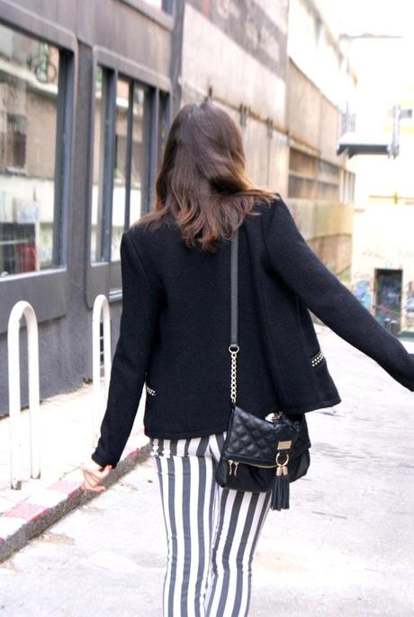 Black & White Striped Pants