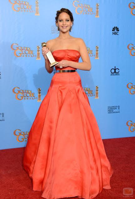 Consigue el look de Jennifer Lawrence en los Globos de Oro.
