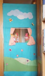 Un teatro de tela para poner en la puerta paperblog - Teatro marionetas ikea ...