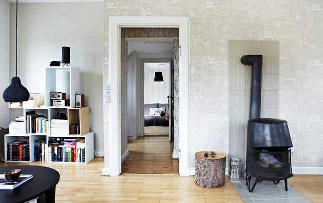 Un apartamento de lujo renovado en gentofte paperblog for Cocinas empapeladas