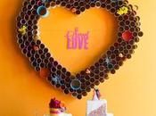 valentín: corazón gigante pared