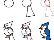 Tutorial para niños. Cómo dibujar pájaro perico
