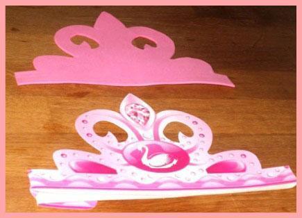Diadema para disfraz de princesa