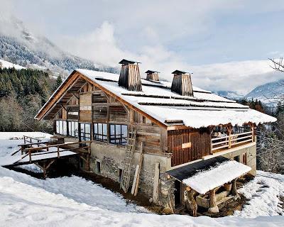 Espectacular cabaña en la nieve