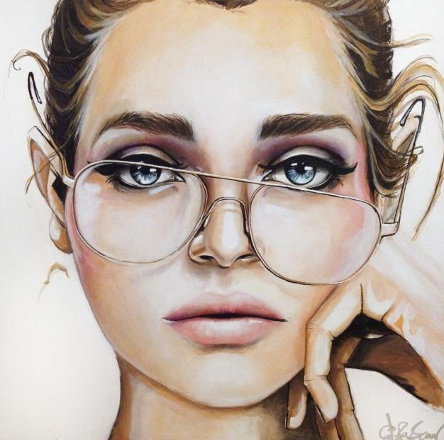 Best Pinterest Art: ART... FACES / Caras, Ojos... Y Gafas.