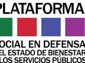 Manifiesto defensa estado bienestar social servicios públicos. sanidad educación juega