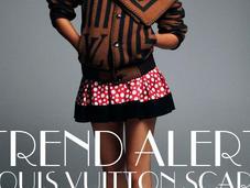Trend alert! Louis Vuitton scarf