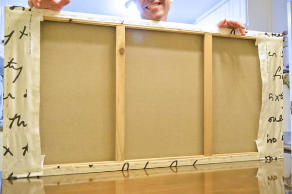 Como forrar un lienzo con la tela britten nummer de ikea - Como enmarcar un lienzo ...