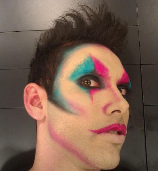 detalle maquillaje arlequín para Carnaval