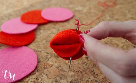 galleta cosida Manualidades con fieltro para San Valentín