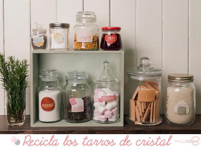 Diy c mo decorar los botes de cristal paperblog for Como decorar botes de cristal para la cocina