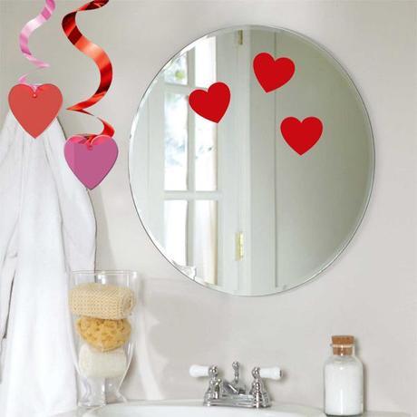 decora el cuarto de baño para San Valentín
