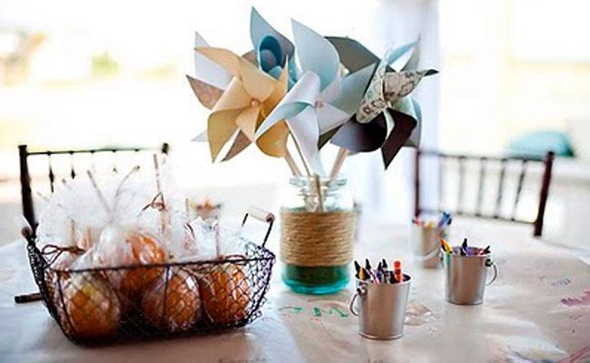 detalles para mesa Ideas para decorar comuniones en casa