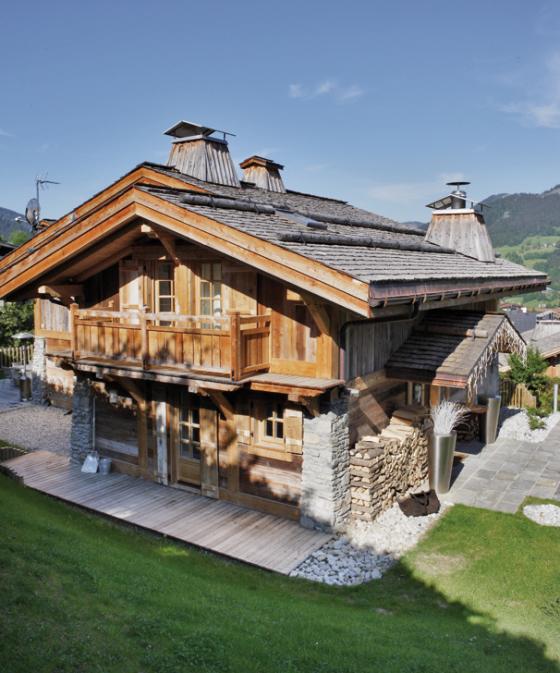 Una vivienda con aires escandinavos en los alpes suizos paperblog - Casas en los alpes suizos ...