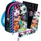 Set de papelería y mochila Monster High