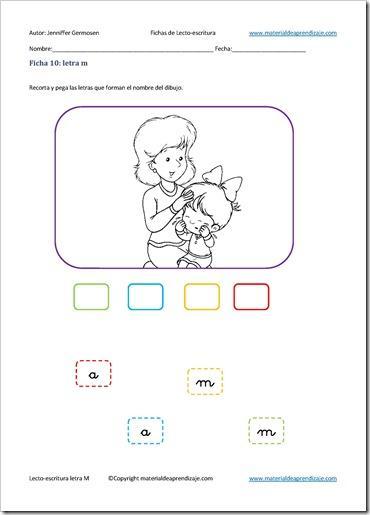 Letra M 10  Lecto Escritura    Material De Aprendizaje