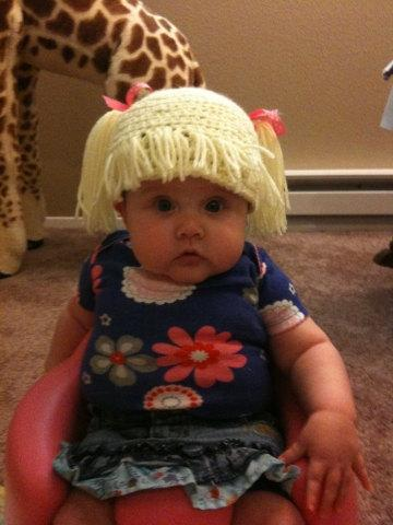 gorro crochet niña