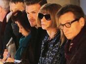 David Beckham Anna Wintour juntos front desfile Victoria
