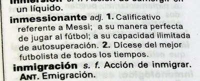 El adjetivo para Lionel Messi, InMESSIonante,