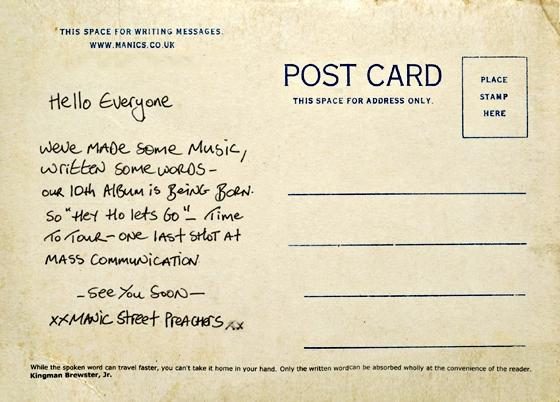 """Postcards From A Young Man"" lo nuevo de Manic Street Preachers"
