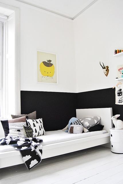 Deconi os habitaciones infantiles en blanco y negro - Habitaciones infantiles en blanco ...