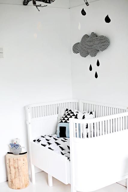 Deconi os habitaciones infantiles en blanco y negro paperblog - Habitaciones infantiles en blanco ...
