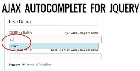 Ajax autocomplete plugin para jQuery