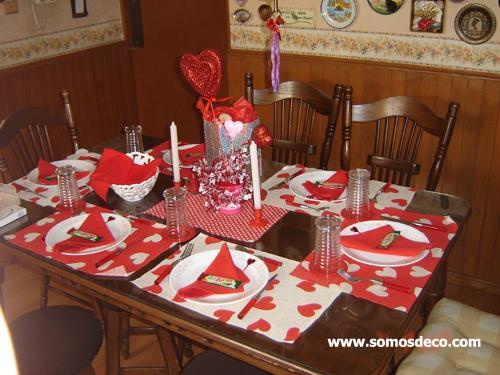 La mesa de san valent n de f tima paperblog Decorar mesa para san valentin