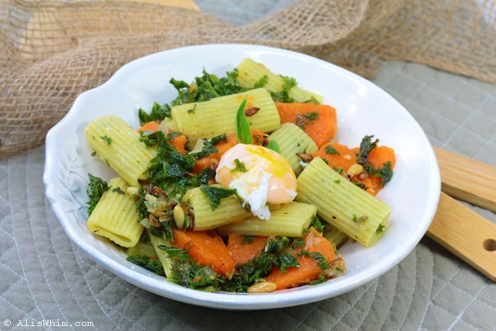 Pasta con col rizada y calabaza paperblog - Cocinar col kale ...