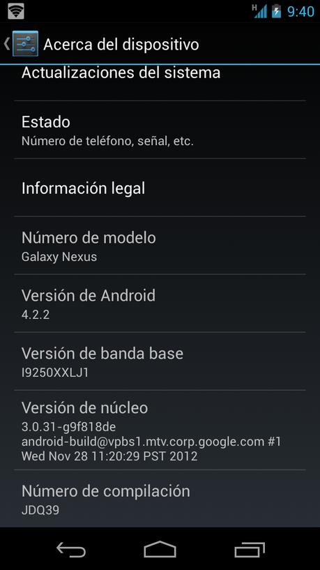 Llega Android 4.2.2 A La Gama Nexus