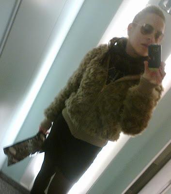 Combinando mi chaqueta de pelo.....