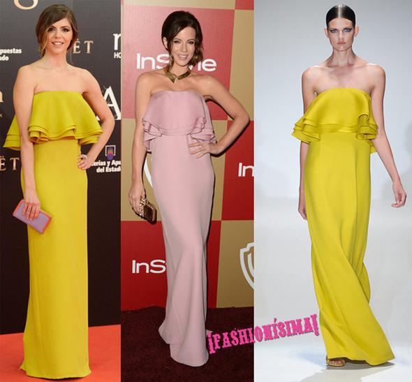 f453b70bc Vestido de Gucci  ¿Manuela Velasco o Kate Beckinsale  - Paperblog