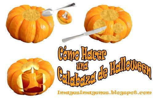 C mo hacer una calabaza de halloween paperblog - Como vaciar una calabaza ...