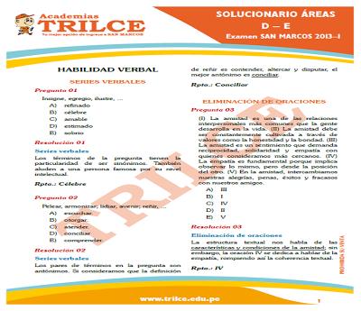 Examen de Admisión UNI 2013-I (1era. parte)