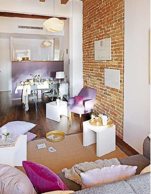 El ladrillo como elemento decorativo paperblog - Ladrillo decorativo interior ...