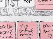 idea: tareas semanales