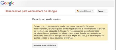 birii disavow links google webmaster tools SEO Disavow   Nueva herramienta para webmasters de Google